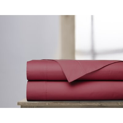 600 Thread Count 100% Cotton Sheet Set Color: Garnet, Size: Queen