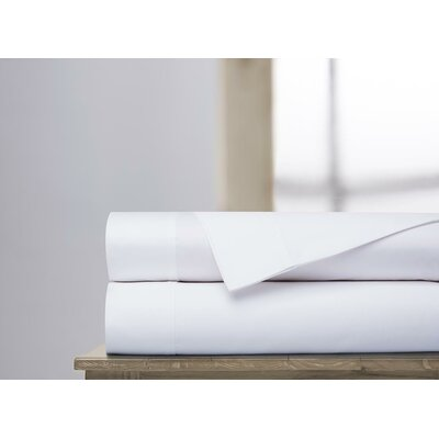 600 Thread Count 100% Cotton Sheet Set Size: Full, Color: White