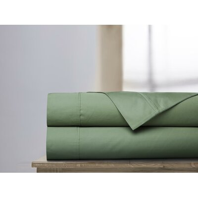 600 Thread Count 100% Cotton Sheet Set Color: Loden, Size: Queen