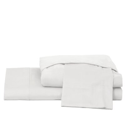 600 Thread Count 100% Cotton Jersey Deep Pocket Sheet Set Color: White