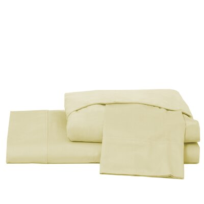 600 Thread Count 100% Cotton Jersey Deep Pocket Sheet Set Color: Ivory