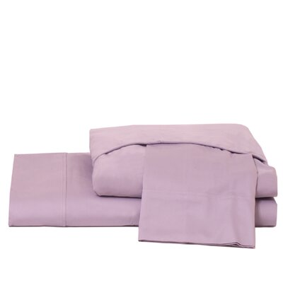 600 Thread Count 100% Cotton Jersey Deep Pocket Sheet Set Color: Lavender