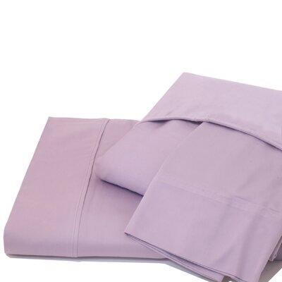 600 Thread Count 100% Cotton Jersey Deep Pocket Sheet Set Color: Lavender