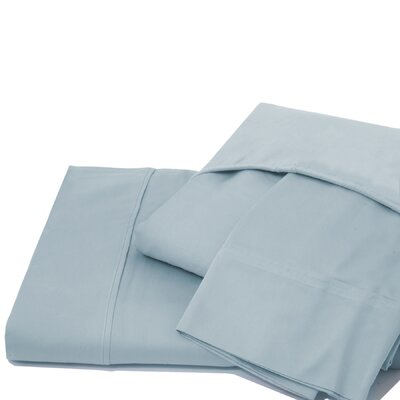 600 Thread Count 100% Cotton Jersey Deep Pocket Sheet Set Color: Dusty Blue