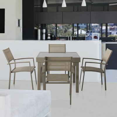 Aluminum 5 Piece Dining Set
