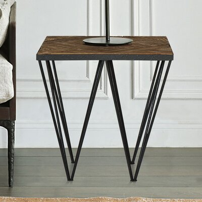 Punta Reclaimed Elm Wood End Table