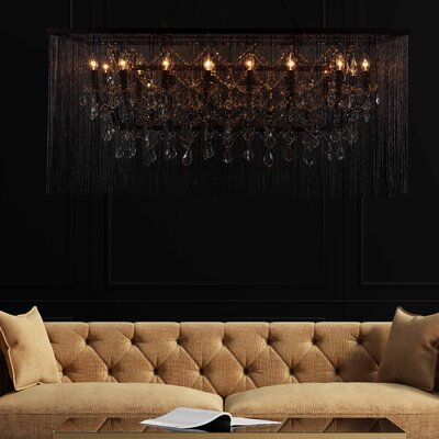 Cascata III 21-Light Candle-Style Chandelier with Crystals