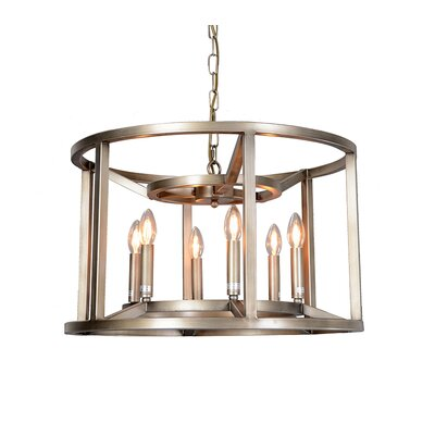 Reticolo 6-Light LED Candle-Style Chandelier