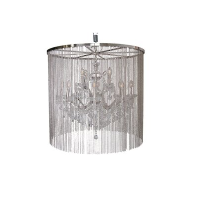 Cascata II 12-Light Waterfall Chandelier with Crystals