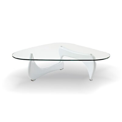 Coffee Table Top Finish: Clear, Base Finish: White