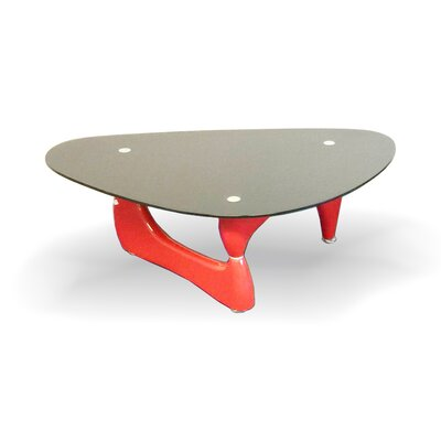 Coffee Table Base Color: Red, Top Color: Black