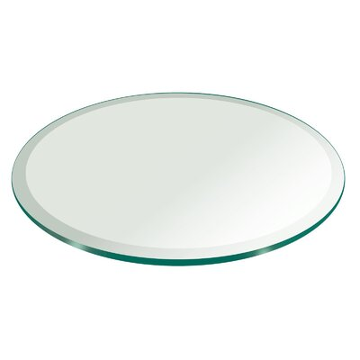 Round Beveled Polish Tempered Glass Table Top