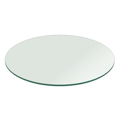 Round Flat Polished Tempered Glass Table Top Size: 30 L x 30 W