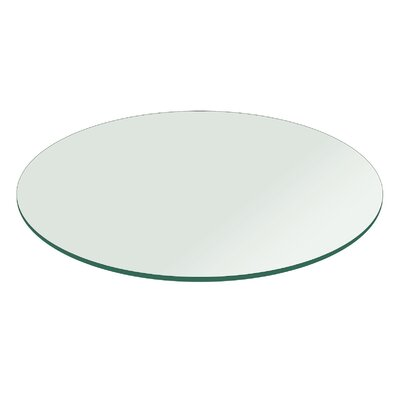 35 Round Flat Polished Tempered Glass Table Top