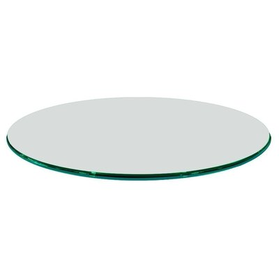 26 Round Ogee Tempered Glass Table Top