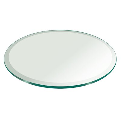 35 inch Round Beveled Edge Tempered Glass Table Top