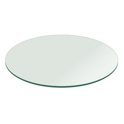 54 Round Flat Polished Tempered Glass Table Top