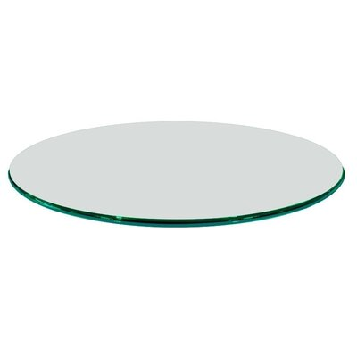 60 Round Ogee Tempered Glass Table Top