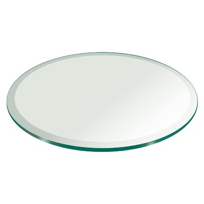 66 Round Beveled Tempered Glass Table Top