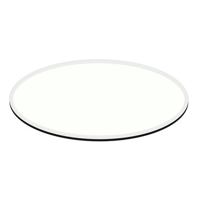 Oval Beveled Tempered Glass