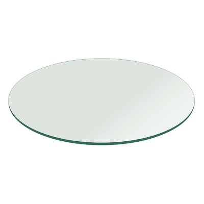 Round Flat Polished Tempered Glass Table Top Size: 36 L x 36 W