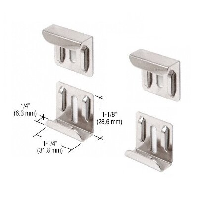 Nickel Plated J-Mirror Clip