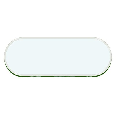 Oval Racetrack Beveled Tempered Glass