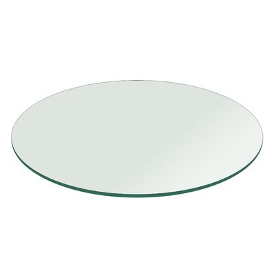 Round Flat Polished Tempered Glass Table Top Size: 18 L x 18 W