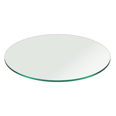 Round Pencil Polish Tempered Glass Table Top