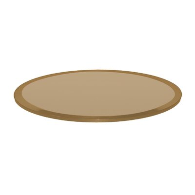 Round Beveled Tempered Glass Table Top Finish: Bronze