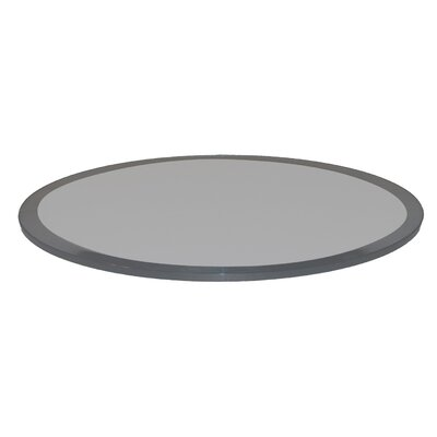 Round Beveled Tempered Glass Table Top Color: Grey