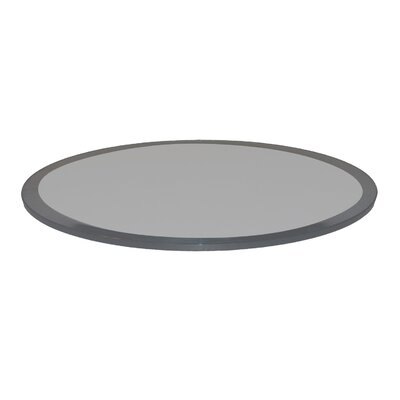 Glass Table Top Beveled Tempered Color: Grey
