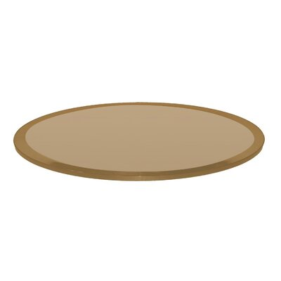 Glass Table Top Beveled Tempered Finish: Bronze