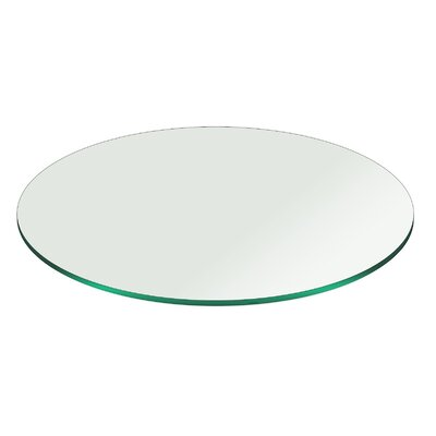 Round Pencil Polish Edge Tempered Glass Table Top