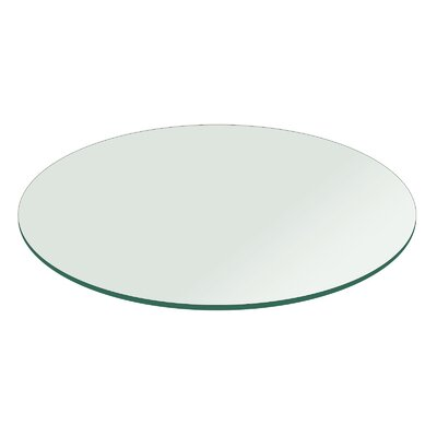 Round Flat Polished Tempered Glass Table Top