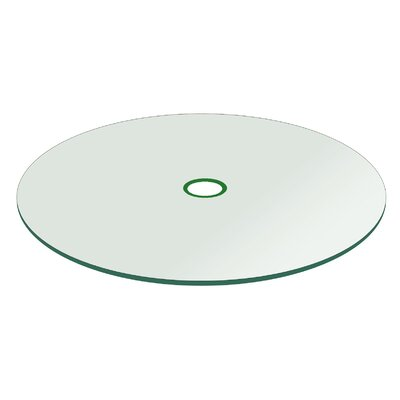Round Flat Tempered with Hole Glass Table Top