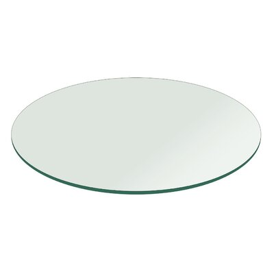 Round Flat Polished Tempered Glass Table Top Size: 32 L x 32 W