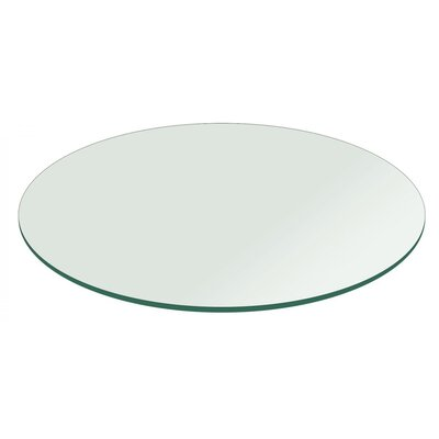 Round Flat Polished Tempered Glass Table Top Size: 42 L X 42 W