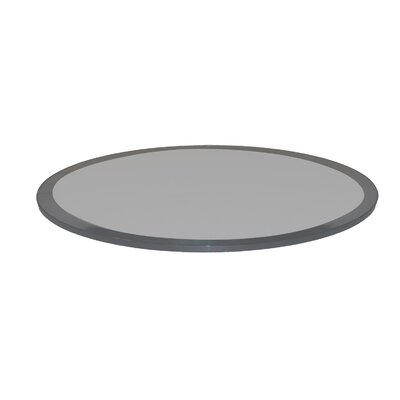 Round Beveled Tempered Glass Table Top Finish: Grey