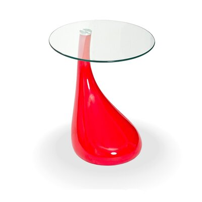 Tear Drop End Table Color: Red