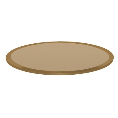 Round Beveled Tempered Glass Table Top Color: Bronze