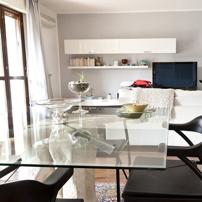 Square Glass Bevel Polish Tempered Radius Corners