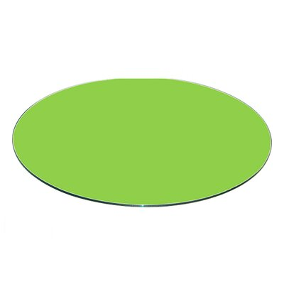 Round Flat Tempered Back Painted Glass Table Top Finish: Green