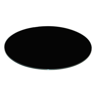Round Flat Tempered Back Painted Glass Table Topp Finish: Black