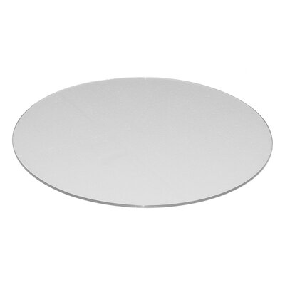 Round Flat Tempered Back Painted Glass Table Top Finish: White
