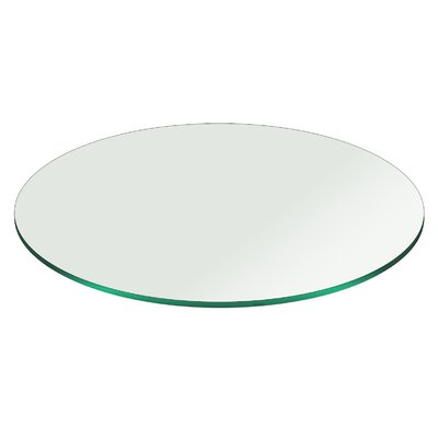 Round Pencil Polished Tempered Glass Table Top