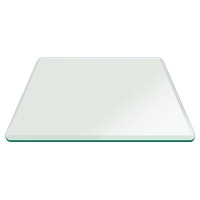 Square Glass Bevel Polish Tempered Radius Corners