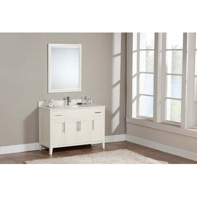 Lisbon 49 Single Bathroom Vanity Set Top Finish: Ash Grey, Faucet Mount: Single