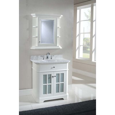 Monterey 32 Single Bathroom Vanity Set Top Finish: Ajax White