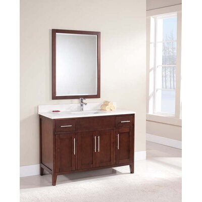 Lisbon 49 Single Bathroom Vanity Set Top Finish: Ajax White, Faucet Mount: 8 Centers
